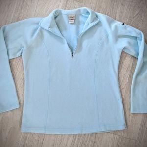 L. L. Bean fleece Pullover sweater jacket xs